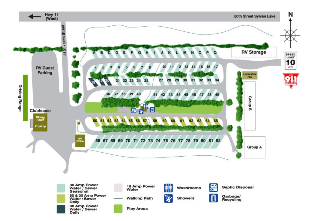 2021 Meadowlands RV Park Map